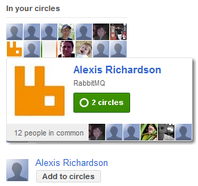 Why would I add Alexis - he's already in my circles