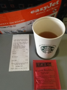 Here's the magic tea bag that easyJet sold me for £2.50.
